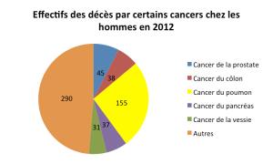 Mortalité par cancer 2012 Hommes