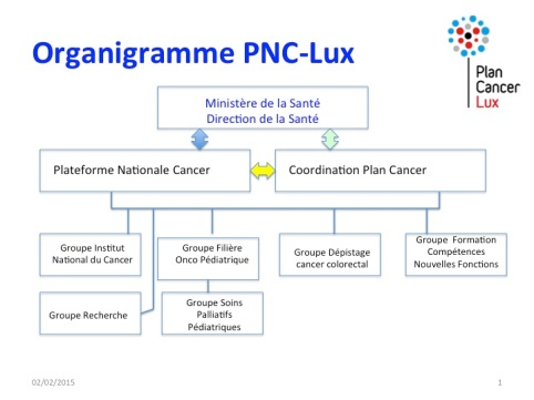 Organigramme du Plan National Cancer